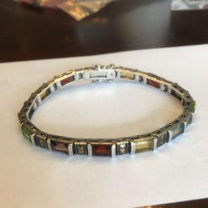 Jewelry - Sterling Silver & Gemstone Bracelet